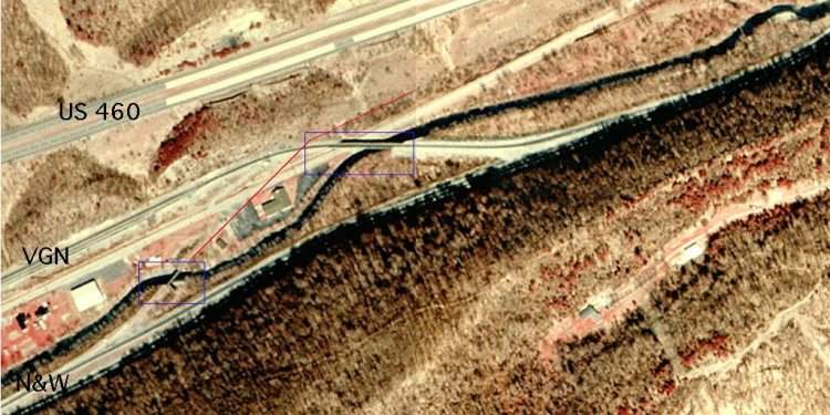 The top of the image is north