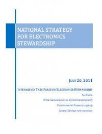 cover of E-waste strategy report