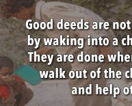 Doing good deeds For Others